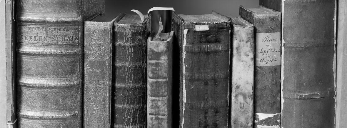 mehrere Bücher in einer Reihe