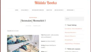 Rezension auf dem Blog Määds Book