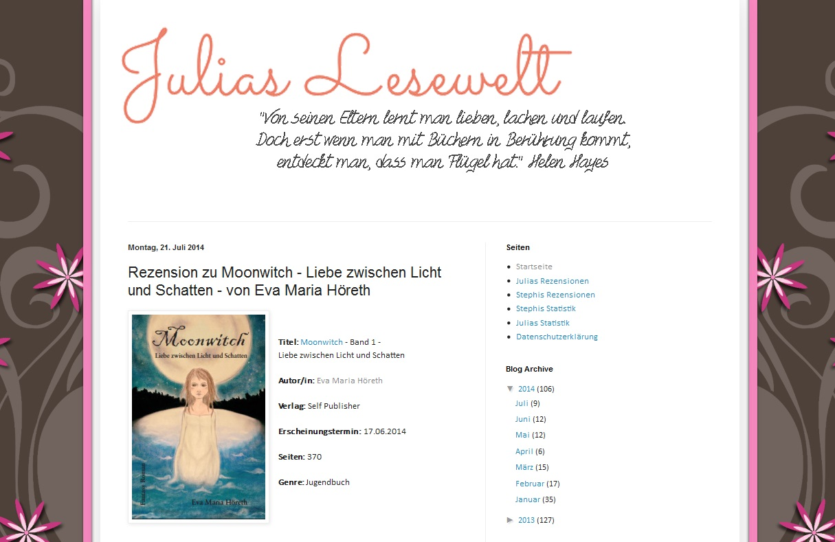 Rezension zu Moonwitch