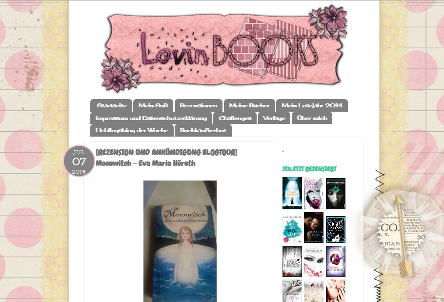 Rezension von Moonwitch auf LovinBooks4ever