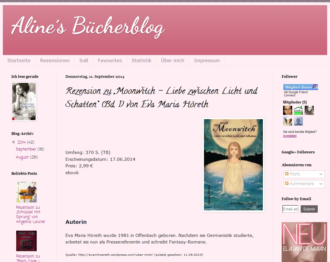 Rezension Alines Bücherblog