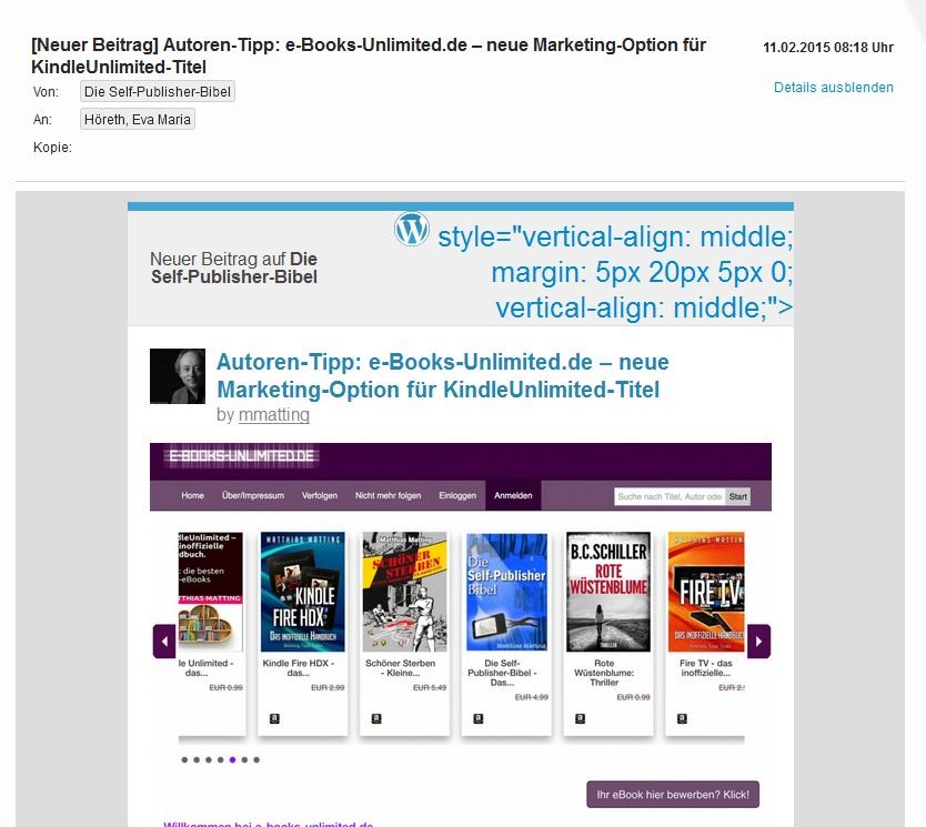 Newsletter Self-Publishing Bibel