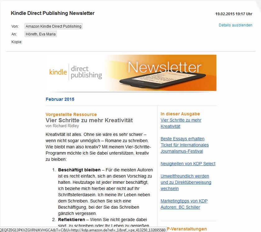 kindle direct publishing newsletter