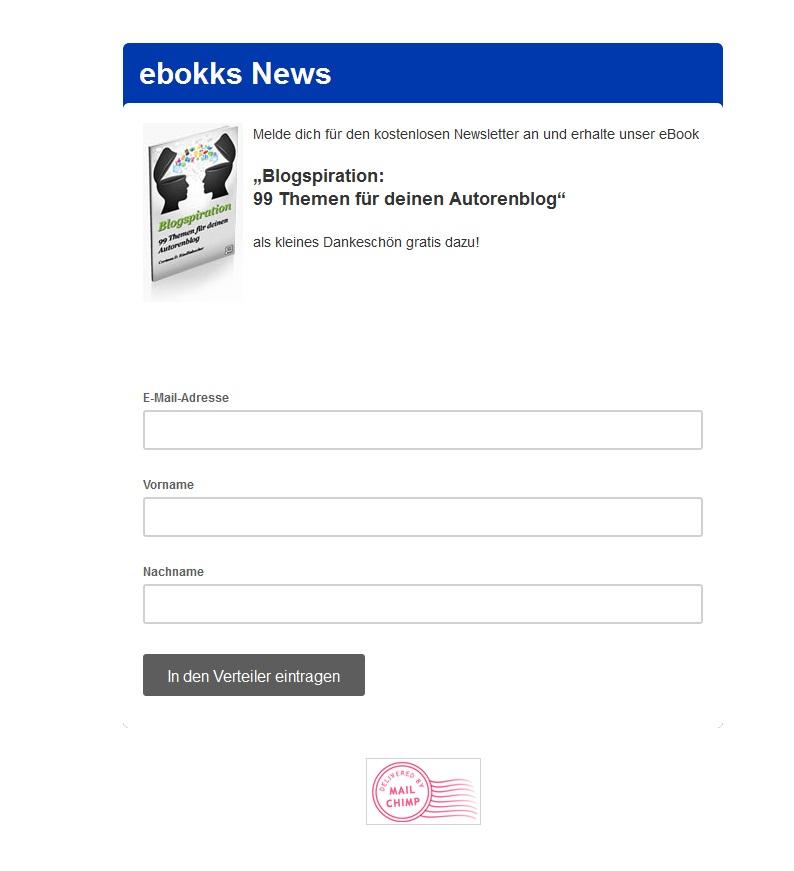 Newsletter von ebokks