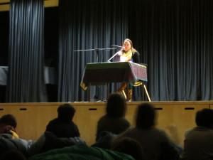 Lesung Übernachtung Bühne Autor