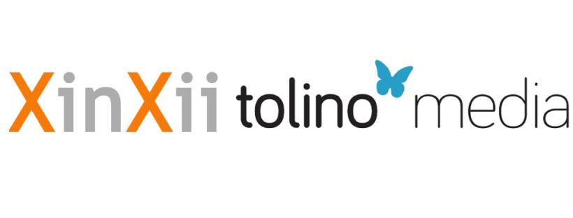Logos von Xinxii und Tolino Media