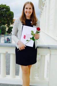 Nadine Nitsche bei der Verleihung des deutschen Buchhandelspreises