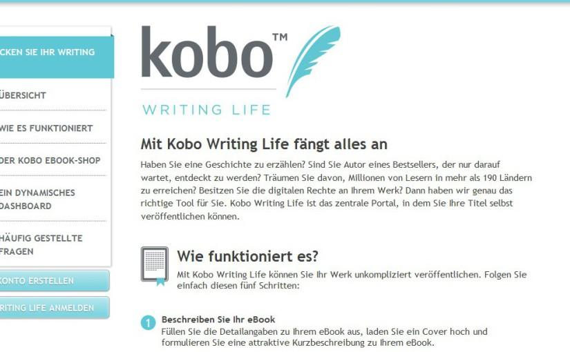 kobo writing life startseite