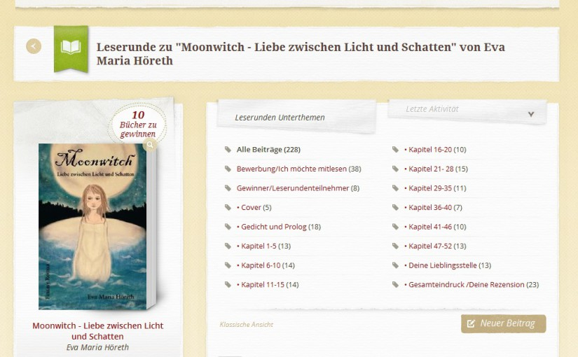 Leserunde Lovelybooks Moonwitch