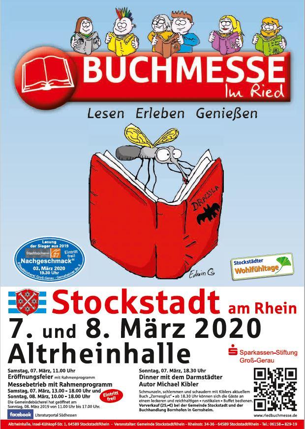 Plakat zur Buchmesse im Ried in Stockstadt